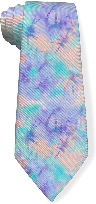 Watercolor Swirl Tie Dye Mens Classic Color Slim Tie, Men's Neckties, Fashion Boys Cravats