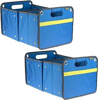 مساحة تخزين meori للأماكن الخارجية باللون الأزرق الداكن مقاوم للطقس وقابل للتعديل 2-Pack B100486