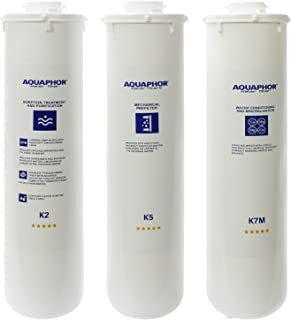 Aquaphor Water Filters Replacement Cartridges for Aquaphor RO-101 Reverse Osmosis System (K2 K5 K7M)