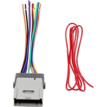 amazon.com: red wolf stereo radio wiring harness connector replacement for  select gm chevy gmc 2000-2012 model: car electronics  amazon.com