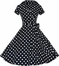 polka dot 50s style dress
