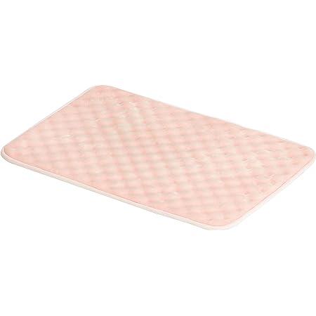 Amazon Basics - Alfombra para baño de espuma viscoelástica ondulada, Rosa, 50 x 80 cm