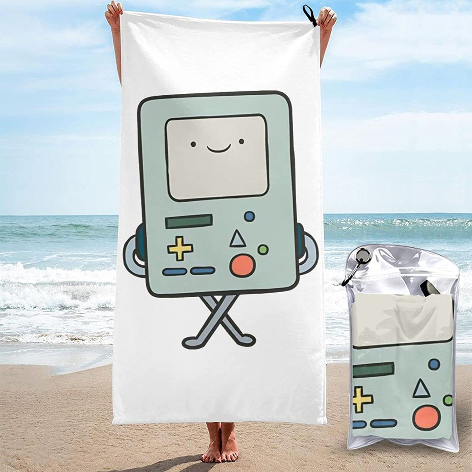 Adventure Time 3D Printed Large are Sand-Free Max 77% OFF Outlet sale feature Towels Beach Quic