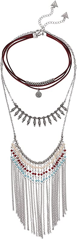 GUESS - 3 Tier Choker and Finge Necklace