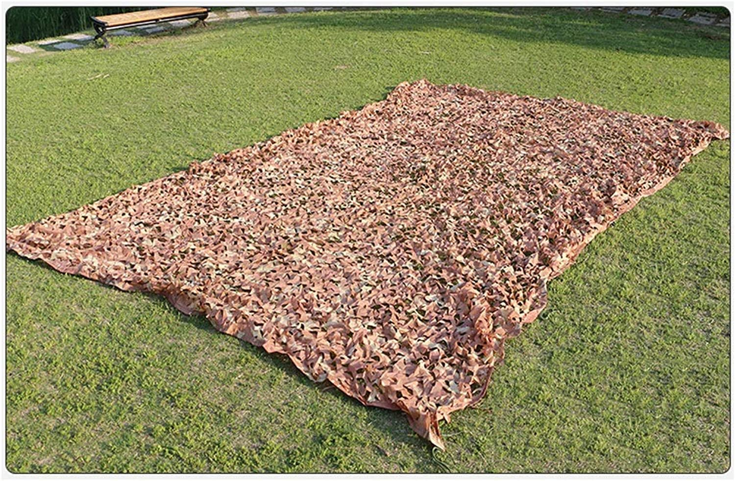 ATR Camouflage Net, Oxford Cloth is Dense and Sturdy, Suitable for Outdoor Camping Sunscreen and Garden Decoration, Desert Camouflage color