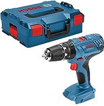 Bosch 06019H1108 GSB 18V-21-Taladro Atornillador de Impacto (batería no incluida, par de apriete Duro y Blando: 55/21 NM, en L-BOXX), 18 V