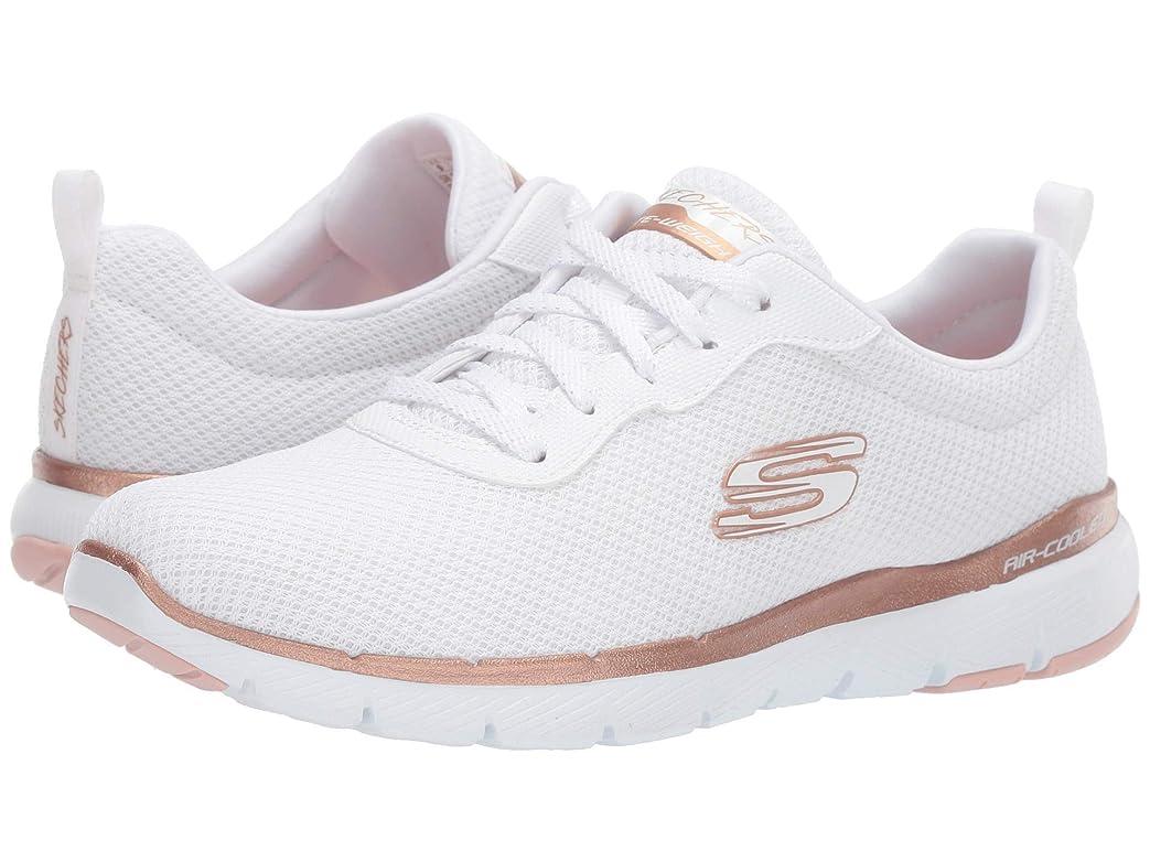 ダブルスーパーマーケットスイス人レディーススニーカー?ウォーキングシューズ?靴 Flex Appeal 3.0 White/Rose Gold 11 (28cm) B [並行輸入品]