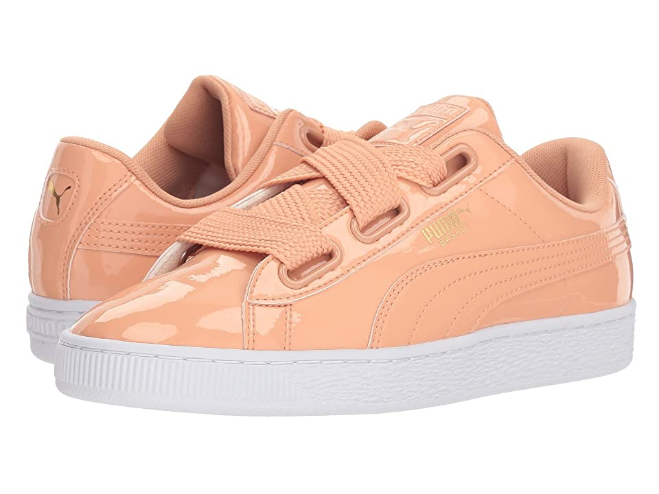 PUMA Basket Heart Patent (Dusty Coral/Dusty Coral) Women