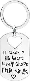 lauhonmin Teacher Key Chain Graduation Gifts - It takes a big heart to help shape little minds
