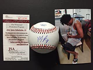 Autographed/Signed Maikel Franco Rawlings Official League ROLB2 Baseball JSA COA & Photo