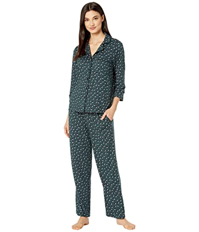 Kate Spade New York Brushed Jersey Long Pajama Set (Kirby Dot) Women