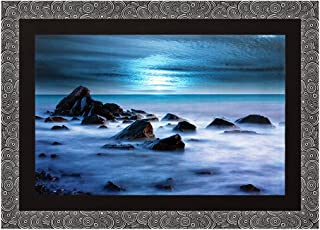 Art N Hub Beaches, River & Waterfall with Acrylic Glass Painting - Abstract Modern Art Home Wall Décor Hangings Gift Items...