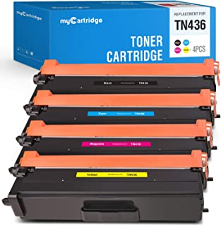 myCartridge Compatible Toner Cartridge Replacement for Brother TN436 TN-436BK 436 TN433 Use for MFC-L8900CDW HL-L8360CDW Hl-L8260Cdw (Black/Cyan/Magenta/Yellow, 4 Pack)