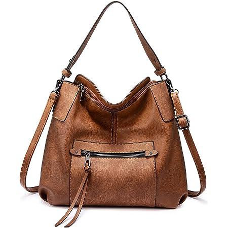Realer Handtasche Damen Shopper Leder Umhängetasche Groß Schultertasche Frau Elegant Henkeltasche Hobo Taschen mit Abnehmbar Schulterriemen