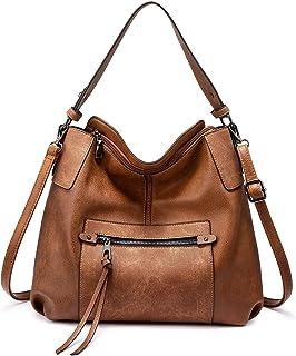 Realer Handtasche Damen Shopper Leder Umhängetasche Groß Schultertasche Frau Elegant Henkeltasche Hobo Taschen mit Abnehmb...