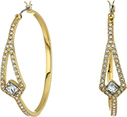 Crystal Pave Hoop Earrings