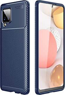 Galaxy A42 5G Case, Carbon Fibre Grip Slip-Resistant Soft TPU Silicone Shockproof Protection Case Cover for Samsung Galaxy...