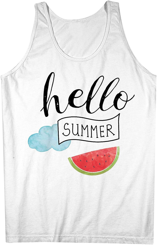 Hello Summer Weekend 男性用 Tank Top Sleeveless Shirt