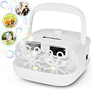 SOWUNO Bubble Machine - Auto Bubble Blower Machine for Kids Professional Double Bubble Maker with High Output 2 Speeds Ope...