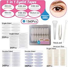 5 kinds Natural Invisible Single/Double Side Eyelid Tapes Stickers, Medical-use Fiber Eyelid Strips, Instant lift Eye Lid Without Surgery, Perfect for Hooded, Droopy, Uneven, Mono-eyelids