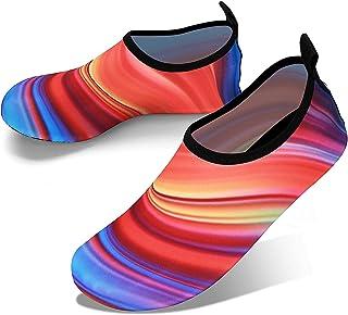 JOTO Water Shoes Chaussons Aquatiques Homme Femme Enfant Chaussures de Plage de Mer de Piscine Sandales Plastiques Anti Sa...