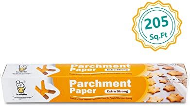 Katbite Heavy Duty Parchment Paper Roll -15 in x164 ft (205 SQ FT) Baking Pan Liners For Baking, Cooking