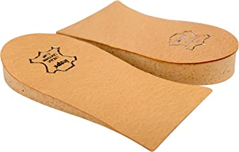 Heel Lift Elevator, Heel Raise, Heel Pad, Orthotic Wedge, Shoe Pad, Many Widths and Heights, Leather Cover, Kaps Topmed, 2 Pieces Left and Right (Height 5 mm / 0.2 inch - Size S)