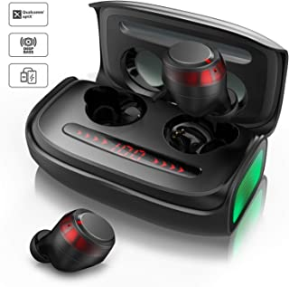 $49 » VOTOMY Bluetooth Earbuds Wireless Earphones, CVC8.0 Noise Reduction, 2500mAh Charging Case, Touch Control Automatically paired, IPX7 Waterproof TWS HiFi Stereo in-Ear Headphones for Work&Outdoor Gym
