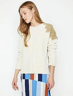 6524f4dc38ac0 Amazon.com.tr: Beyaz - Triko / Kıyafet: Moda