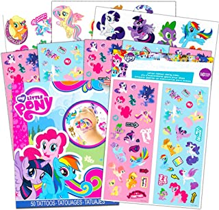 My Little Pony Stickers and Tattoos Party Favor Pack (Bundle Includes 70 Stickers and 50 Temporary Tattoos)