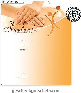 """Premium Faltgutscheine /""""Multicolor/"""" für Naturheilkunde Physiotherapie MA253"""