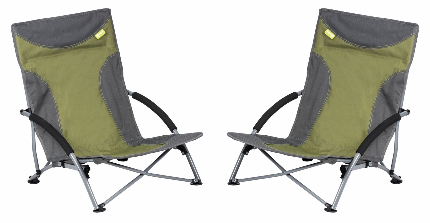 Kampa Sandy High Back - Low Beach Chair (Green, 7 Chairs)
