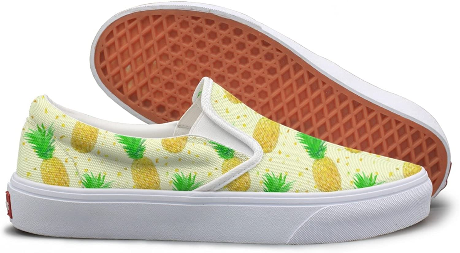 SEERTED Sparse Low Poly Pineapple Womens Slip On Canvas shoes