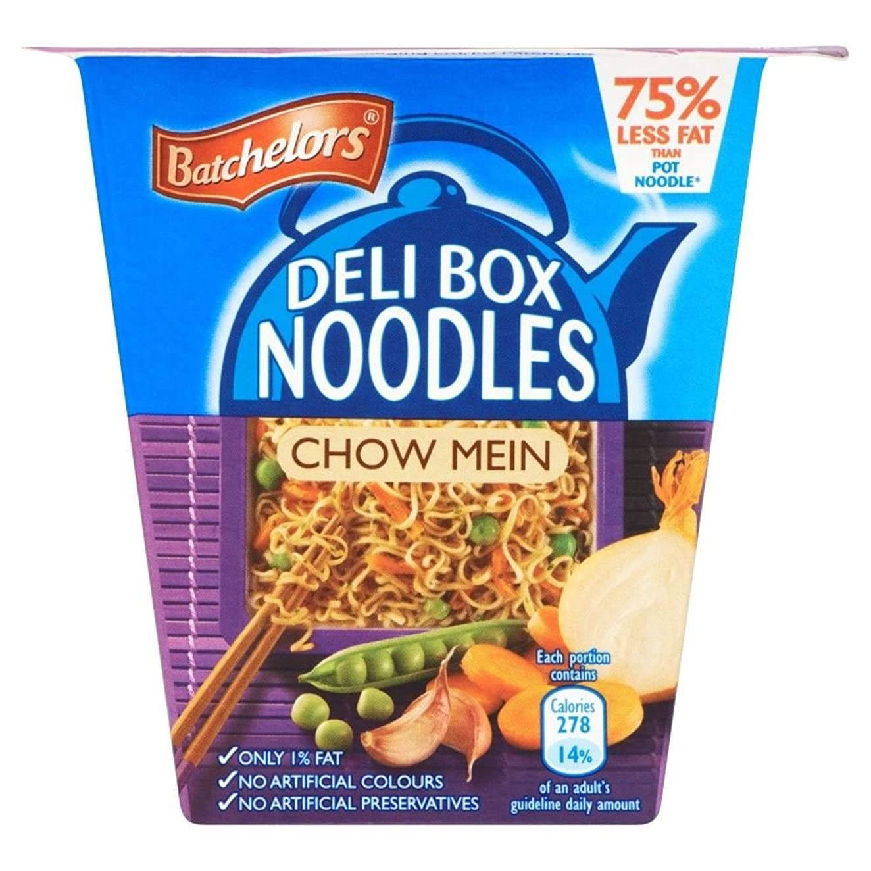 ペース浜辺医療のBatchelors Deli Box Noodles Chow Mein (75g) Batchelorsデリボックス麺の焼きそば( 75グラム)