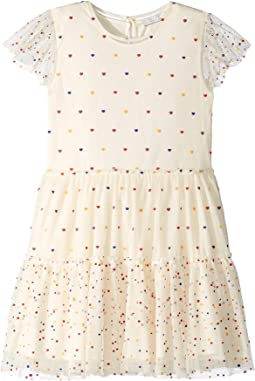 Karina Ruffle Sleeve Multi Polka Dot Dress (Toddler/Little Kids/Big Kids)