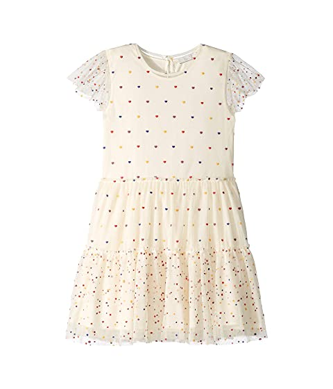 Stella McCartney Kids Karina Ruffle Sleeve Multi Polka Dot Dress (Toddler/Little Kids/Big Kids)