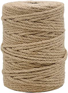 Tenn Well 164 Feet 4mm Natural Jute Twine, Brown Twine Rope for Crafts, Gift Wrapping, Packing, Gardening Applications and Holiday Decorations