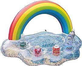 Soporte Inflable Para Bebidas, Posavasos Flotante Para Piscina Rainbow Cloud, Bandeja Flotante Inflable Portátil, Bandeja Para Comida Para Piscina Flotante, Soporte Para Bebidas Para Piscina Inflable