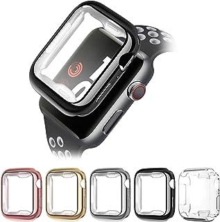 Kompatybilny z obudową Apple Watch 38 mm, 40 mm, 42 mm, 44 mm, 5 sztuk, miękkie TPU, ultra cienkie, odporne na zarysowania...