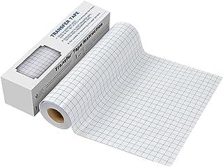 """Transfer Tape for Vinyl - 12"""" x 30 FT w/Blue Alignment Grid for Adhesive Vinyl - Medium Tack Vinyl Transfer Tape for Silho..."""
