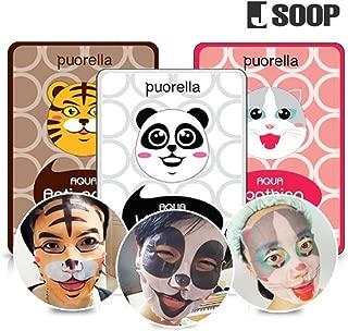 J Soop Animal Character Mask Sheet 10P Set (Soothing Cat Mask Sheets 10P)