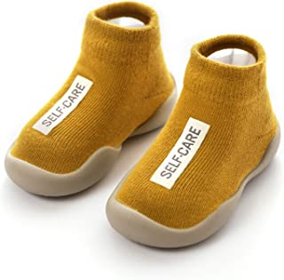 Danvi co. Baby Toddler Sock Shoes Stretch Knit Sneakers Kids Slippers Unisex Speed Trainer Runner (6-36 Months)