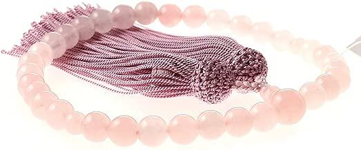 ニューストーンブランド 女性用数珠 ローズクオーツ