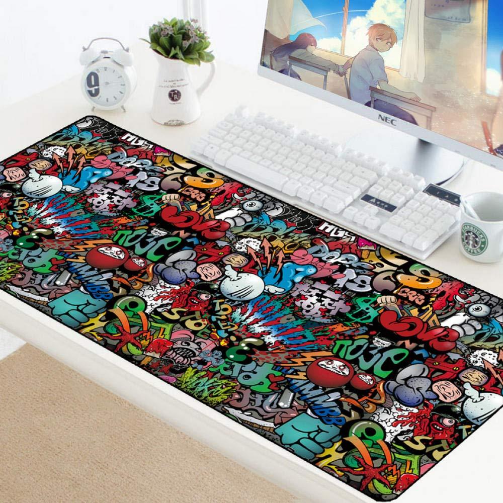 jasonding Graffiti Anime Boom Big Game Mouse Pad Gamer XXL Computer Mouse Pad Juego Teclado Mesa Jugar Mat Pad Pc Pad: Amazon.es: Electrónica