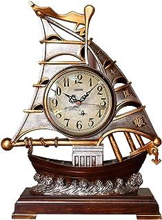 Table Clock الإبداع المنضدية ساعة زخرفة المنزل الحنين البلاستيكية الجدول ساعة صامتة مانتل ساعة مع حركة الاجتياح الثانية 1...