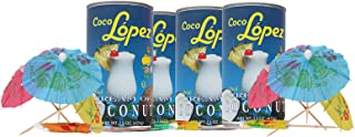 Coco Lopez - Real Cream of Coconut - 15 Ounce Can - Original Fresh Authentic Coconut Cream (Pack Of 6)