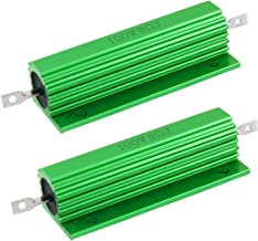 uxcell 100W 8 Ohm Screw Tap Mounted Aluminum Housed Wirewound Resistors 2 Pcs