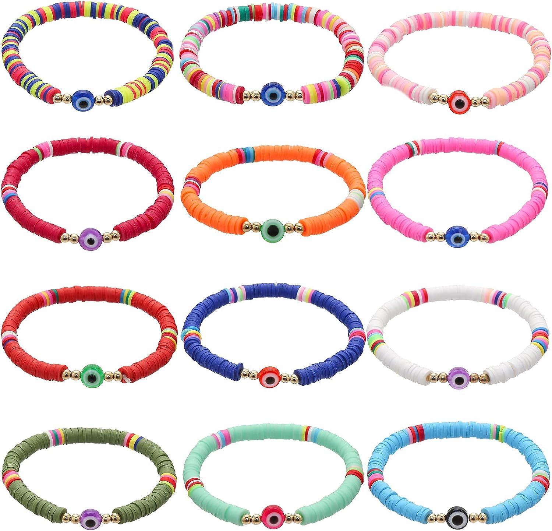 Heishi Surfer Bracelets for Women Vsco Boho Beaded Bracelet Frie