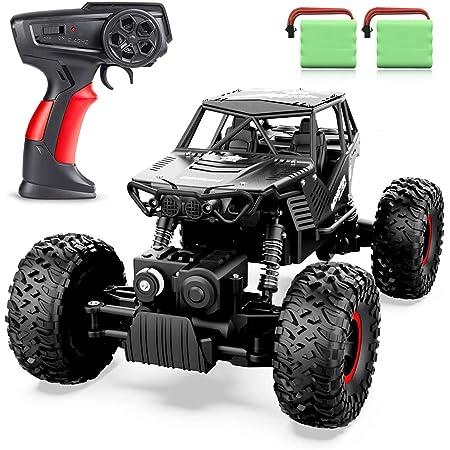 ANTAPRCIS 4WD RC Coche, 1:14 Off-Road Coche Teledirigido, 2.4GHz Crawler Camiones de Control Remoto Juguete con 2 Baterías Recargables, Regalo para Niños