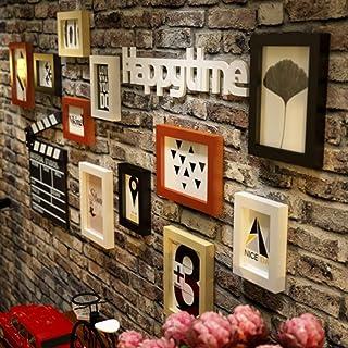 Pared de Marco de Fotos Marco de Fotos de Pantalla múltiple Grande Dormitorio de Sala de Estar Collage de Fotos Combinació...